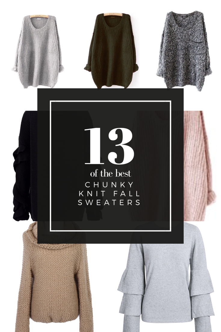 The Best Chunky Knit Sweaters for Fall and Winter - Bloom & Clementine